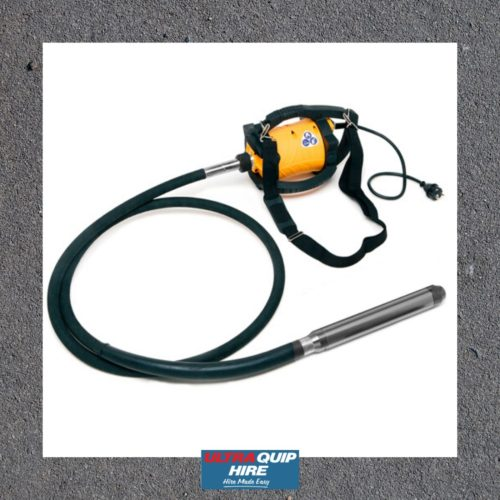 Ultraquip Blenheim Electric 240 volt concrete vibrator enar hire rent Hirepool Kennards
