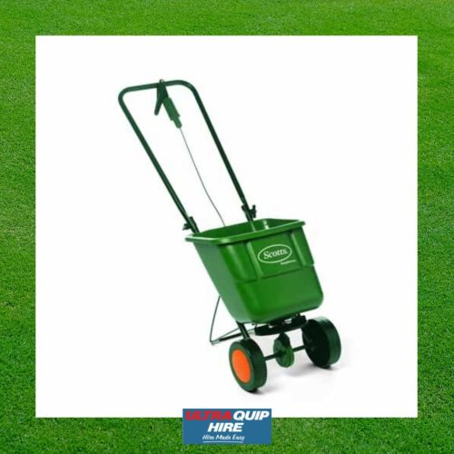 Ultraquip Blenheim Gardening lawn fertiliser spreader applicator rent hire Kennards Hirepool
