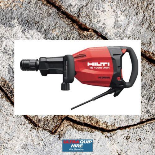 Ultraquip Hilt demolition hammer concrete breaker hire rent Kennards Hirepool
