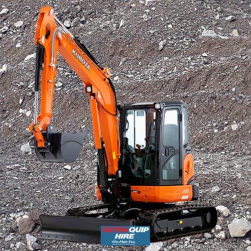 Ultraquip Excavator Digger Kobelco Kubota 5MT Hire Rent Hirepool Kennards
