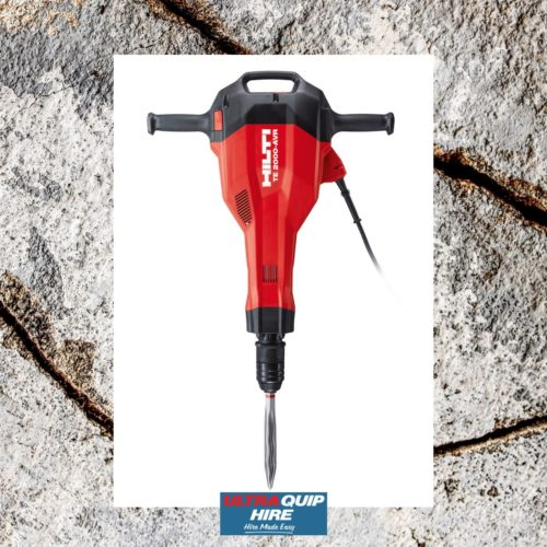 Ultraquip Hilt demolition hammer concrete breaker hire rent Kennards Hirepool