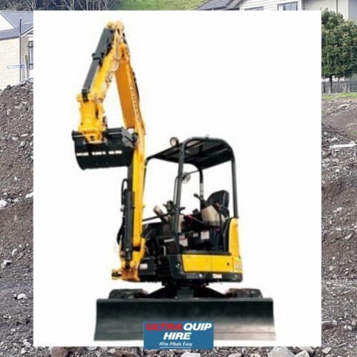 Ultraquip Excavator Digger Kobelco Yanmar 3MT Hire Rent Hirepool Kennards
