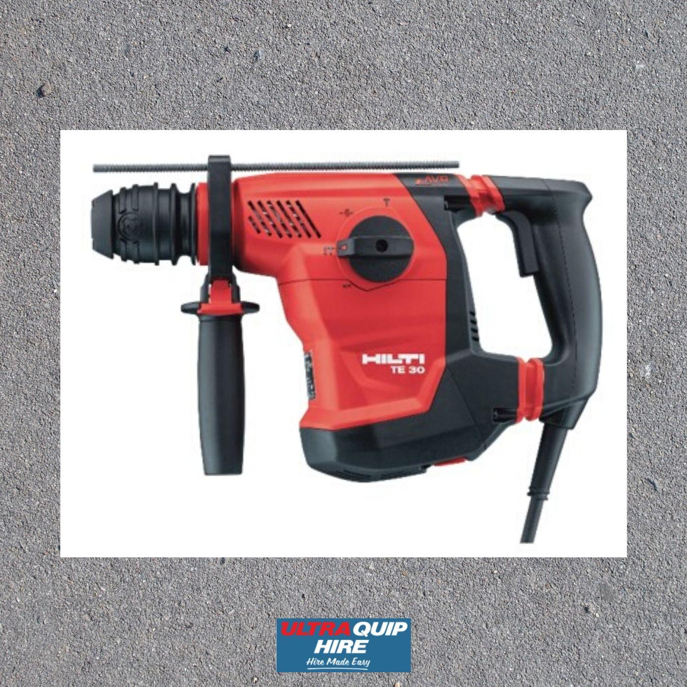 Ultraquip Hilti concrete demolition drill breaker hammer hire rent hirepool kennards